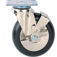 Metro BL8P24 8 inch Super Erecta Polyurethane Brake / Locking Swivel Plate Casters - 2/Set