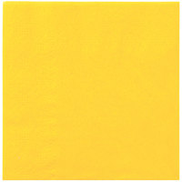 Hoffmaster 180340 Sun Yellow Beverage / Cocktail Napkin - 1000/Case