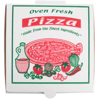 7 inch x 7 inch x 1 3/4 inch White Corrugated Pizza Box - 100 / Case