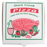 7 inch x 7 inch x 1 3/4 inch White Corrugated Pizza Box - 100/Case