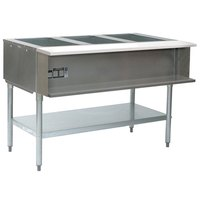 Eagle Group AWT4 Liquid Propane Four Pan Water Bath Steam Table - Sealed Well