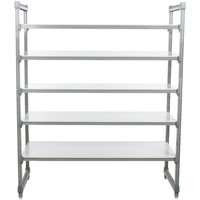 Cambro ESU184284S5580 Camshelving® Elements Solid 5-Shelf Stationary Starter Unit - 18 inch x 42 inch x 84 inch