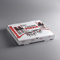Choice 16 inch x 16 inch x 2 inch White Corrugated Pizza Box   - 50/Case
