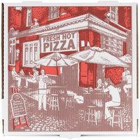 16 inch x 16 inch x 1 3/4 inch White Corrugated Pizza Box   - 50/Case