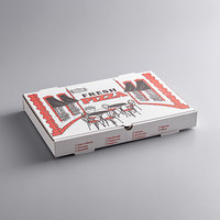 Choice 17 inch x 25 inch x 2 inch White Corrugated Pizza Box - 25/Case