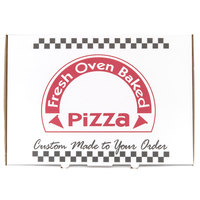 17 inch x 25 inch x 2 inch White Corrugated Pizza Box - 25/Case
