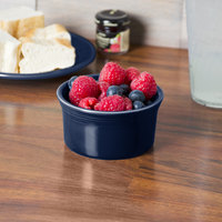 Homer Laughlin 568105 Fiesta Cobalt Blue 8 oz. Ramekin - 6/Case