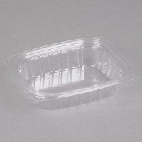 Dart C8DER ClearPac 8 oz. Clear Rectangular Plastic Container - 1008/Case