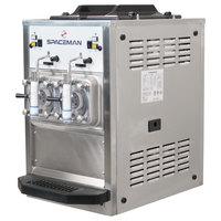 Spaceman 6455H 2 Bowl Slushy / Granita Stainless Steel Frozen Drink Machine - 120V