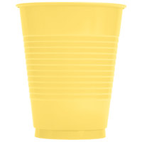 Creative Converting 28102081 16 oz. Mimosa Yellow Plastic Cup - 20/Pack