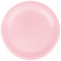 Creative Converting 28158021 9 inch Classic Pink Plastic Plate - 20/Pack