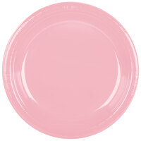Creative Converting 28158031 10 1/4 inch Classic Pink Plastic Plate - 20 / Pack