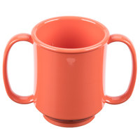 GET SN-103-RO 8 oz. Rio Orange Tritan Two Handle Mug - 24/Case