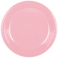 Creative Converting 28158031 10 inch Classic Pink Plastic Plate - 240/Case