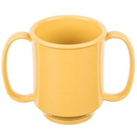 GET SN-103-TY 8 oz. Tropical Yellow Tritan Two Handle Mug - 24/Case
