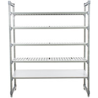 Cambro ESU244284VS5580 Camshelving® Elements Stationary Starter Unit with 4 Vented Shelves and 1 Solid Shelf - 24 inch x 42 inch x 84 inch