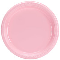 Creative Converting 28158011 7 inch Classic Pink Plastic Plate - 240 / Case