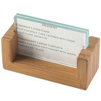 Cal-Mil 1510-32-60 U-Frame 3 1/2 inch x 2 inch Bamboo Displayette