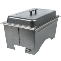 Sterno Products Silver Vein Fold Away Chafer with Lid and 2 Half Size Pans