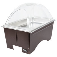 Sterno Products Full Size Copper Vein Fold Away Chafer with Clear Dome Cover and Full Size Pan