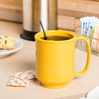 GET SN-104-TY Healthcare 8 oz. Tropical Yellow Tritan Mug - 24/Case