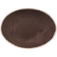 GET OP-1518-PCF Osslo 15 inch x 11 inch Pottery Coffee Flare Oval Melamine Platter - 6/Case