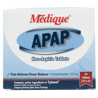Medique 14564 APAP Acetaminophen Tablets - 24/Box