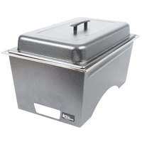 Sterno Products Full Size Silver Vein Stackable Chafer with Lid and Full Size Pan