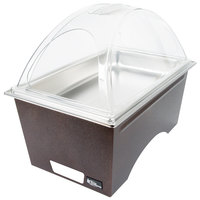 Sterno Products Full Size Copper Vein Stackable Chafer with Clear Dome Cover and Full Size Pan