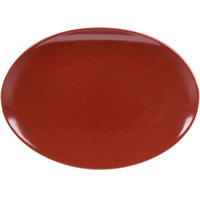 GET OP-1518-CHI Osslo 15 inch x 11 inch Chili Flare Oval Melamine Platter - 6/Case