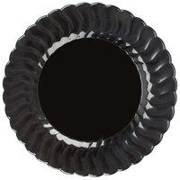 Fineline Flairware 209-BK 9 inch Black Plastic Plate - 18/Pack
