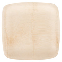 Bambu® 064400 Veneerware® 11 inch Disposable Square Bamboo Tray - 100/Case