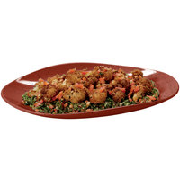 GET OP-1813-CHI Osslo 17 3/4 inch x 13 inch Chili Flare Oval Melamine Platter - 3/Case