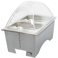 Sterno Silver Vein Fold Away Chafer with Clear Dome Cover and 2 Half Size Pans
