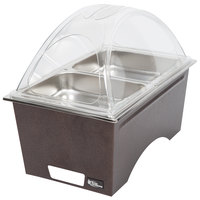 Sterno Copper Vein Stackable Chafer with Clear Dome Cover and 2 Half Size Pans