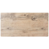 GET SB-2010-OW Madison Avenue / Granville 20 inch x 10 inch Melamine Faux Oak Wood Display Board
