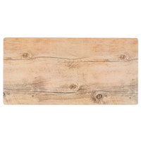 GET SB-1210-OW Granville 12 inch x 10 inch Melamine Faux Oak Wood Display Tray