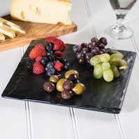 GET SB-1011-BK Madison Avenue / Granville 10 inch x 10 inch Melamine Faux Slate Display Board