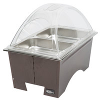Sterno Products Copper Vein Fold Away Chafer with Clear Dome Cover and 2 Half Size Pans