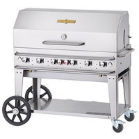 Crown Verity RCB-48RDP-SI-LP 48 inch Pro Series Outdoor Rental Grill with Single Gas Connection and Roll Dome Package