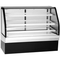 Federal Industries ECGR-77 Elements 77 inch Curved Glass Refrigerated Bakery Display Case - 29.43 Cu. Ft.