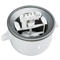 KitchenAid KICA0WH Ice Cream Maker Attachment for Residential KitchenAid Stand Mixers