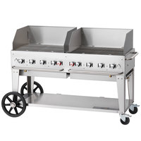 Crown Verity MCB-60WGP Natural Gas 60 inch Mobile Outdoor Grill with Wind Guard Package