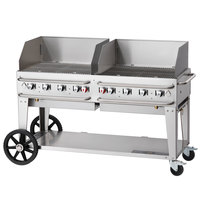 Crown Verity RCB-60WGP-SI-LP 60 inch Pro Series Outdoor Rental Grill with Single Gas Inlet and Wind Guard Package