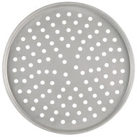 American Metalcraft T2016P 16 inch Perforated Pizza Pan - Tin Plated Steel