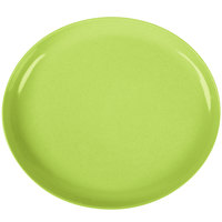 GET SZIP001G BambooServe 11 1/2 inch x 10 1/4 inch Oval Bamboo Green Incline Plate - 12/Case