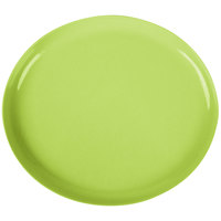 GET SZIP002G BambooServe 9 1/2 inch x 8 1/4 inch Oval Bamboo Green Incline Plate - 12/Case