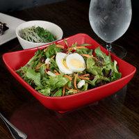 GET SZSB001R BambooServe 1.5 Qt. Square Bamboo Red Salad Bowl - 12/Case