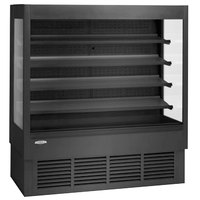 Federal Industries ERSSHP378SC-5 Elements Black 71 inch High Profile Air Curtain Merchandiser - 35.4 Cu. Ft.
