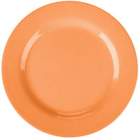 GET SZRP003O BambooServe 8 inch Round Bamboo Orange Wide Rim Plate - 12/Case